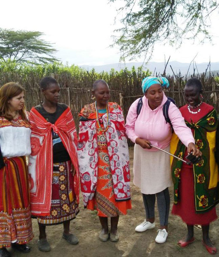 Global Health Professor Dr. Chinekwu Obidoa is shown in Kenya doing work as part of her Carnegie African Diaspora Fellowship.