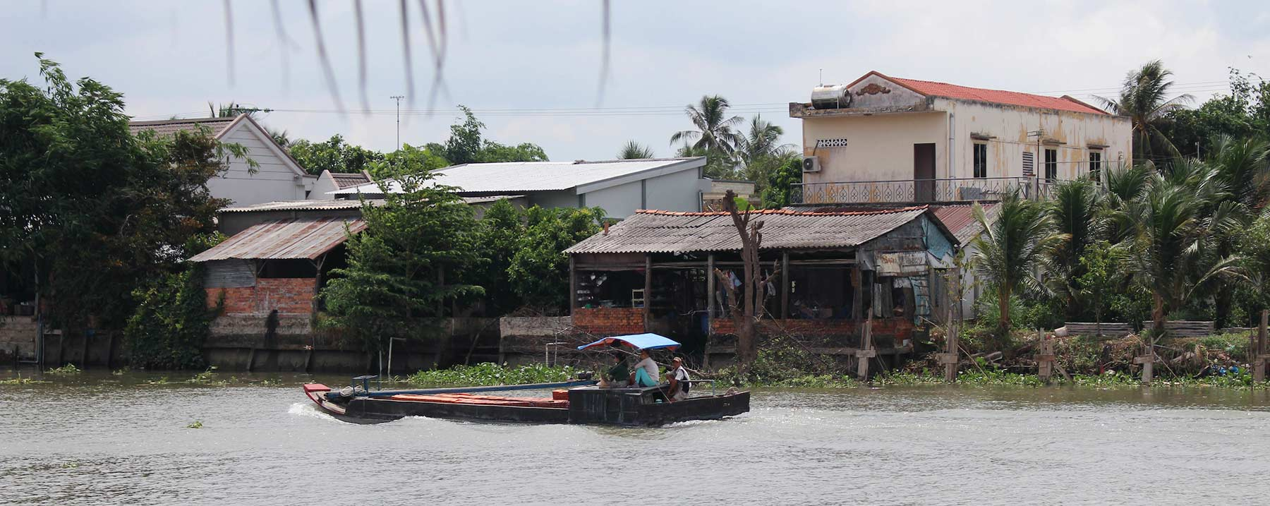 A boat is pictured on a waterway in Vietname.