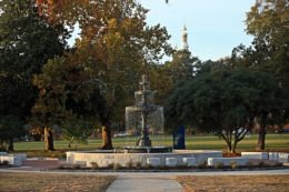 The fountain at Tattnall Square Park in Macon.