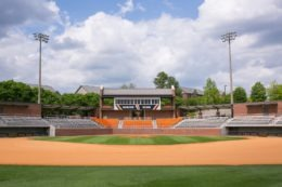 The Mercer baseball field and stadium on the Macon campus.