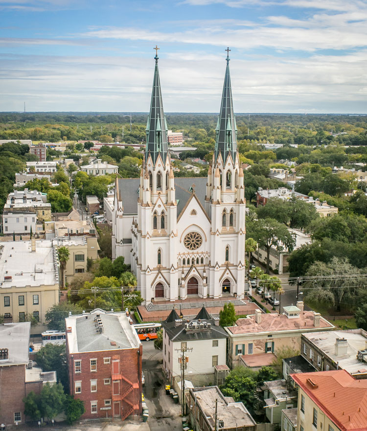 Aerial view of Savannah