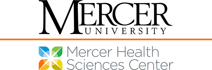 Mercer University Wordmark co-branded with the Mercer Health Sciences Center logo