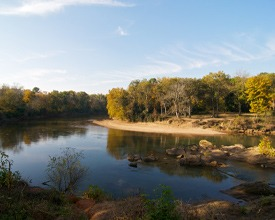 A view of the Ocmulgee River in Macon.