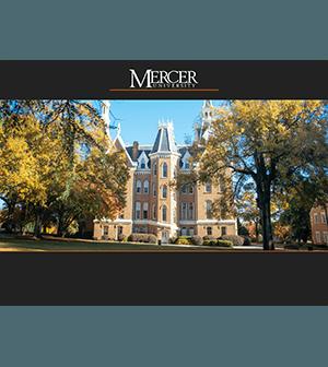 Mercer University presentation template screenshot