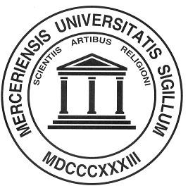 Mercer seal - MERCERIENSIS UNIVERSITATIS SIGILLUM MDCCCXXXIII