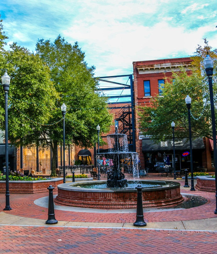 The Broadway fountain is pictured in Columbus, GA.