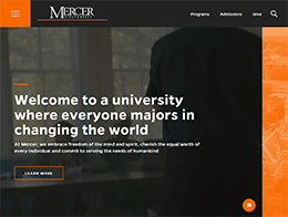 Mercer home page thumbnail