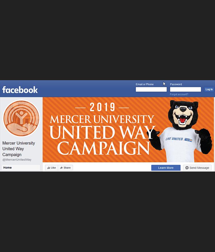 Mercer United Way Facebook screen capture